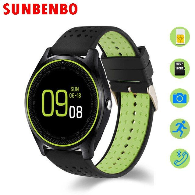 2017 New Smart Watch V9 with Camera Bluetooth WristWatch SIM Card Smartwatch for Android Phone Wearable Devices pk dz09 gt08 A1
