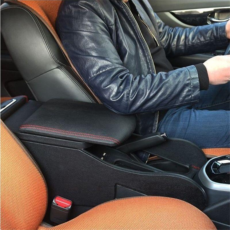 Verbesserte schutz Auto Auto-styling Arm Rest Autos Styling Änderung Dekorative Teile Armlehne Box 16 17 FÜR Nissan Kicks