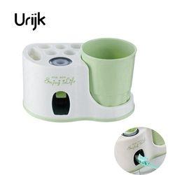 Urijk новый креативный держатель для зубной щетки стирка костюм автоматический Squeeze зубная паста Sucker дома для ванной комплект полки для дома ...