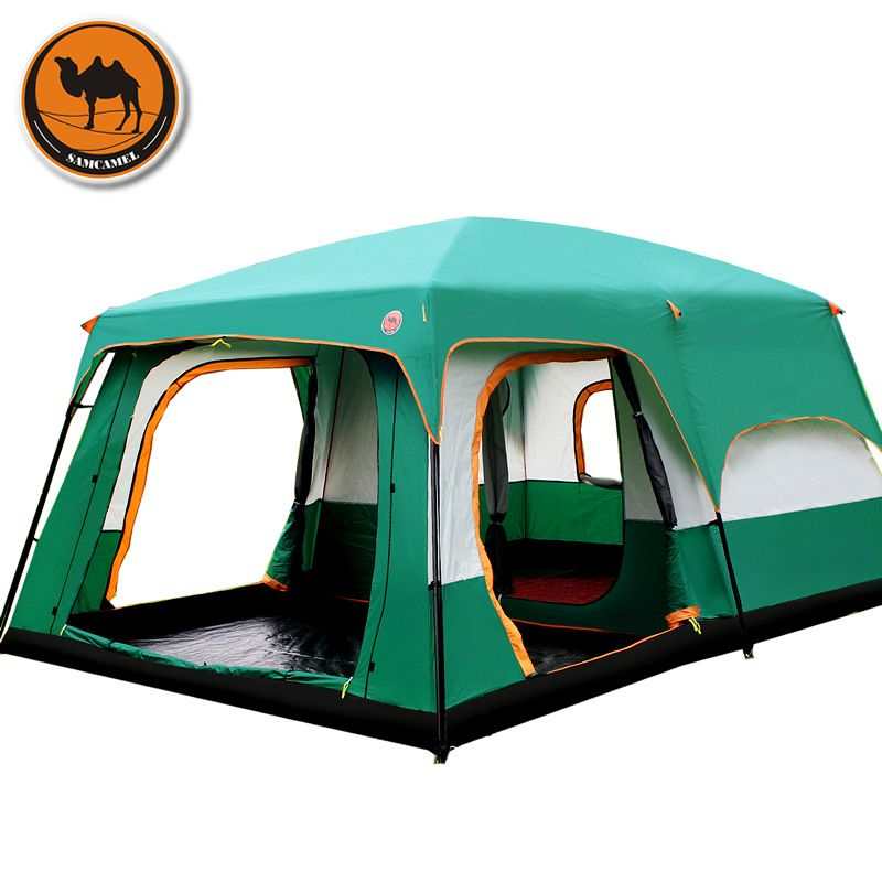 The camel outdoor New big space camping outing two bedroom tent ultra-large hight quality waterproof camping tent