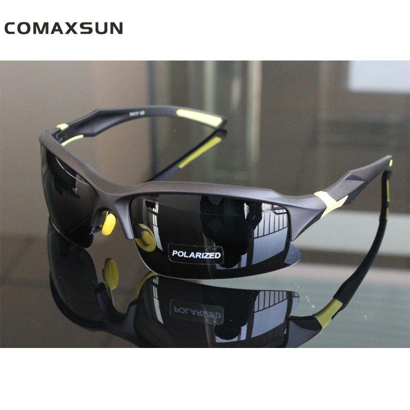 COMAXSUN professionnel lunettes de cyclisme polarisées vélo vélo lunettes de conduite pêche Sports de plein air lunettes de soleil UV 400 Tr90