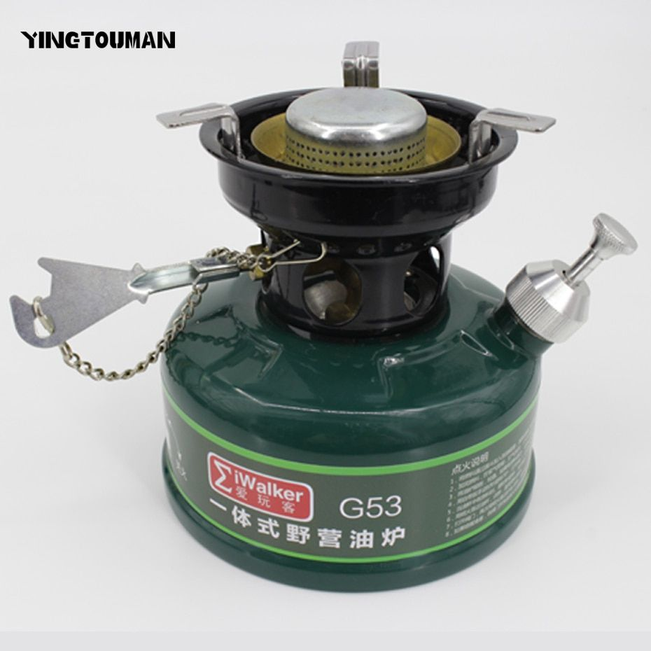 YINGTOUMAN Outdoor Stove Camping Gasoline Stove No Noise Oil Stove Burners Outdoor Cookware Picnic Furnace Picnic Stoves