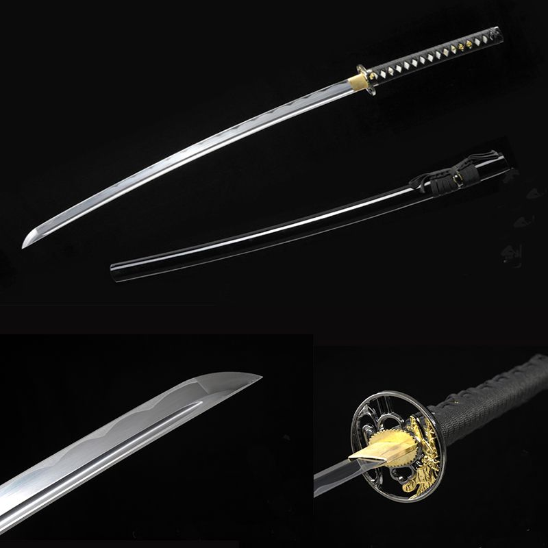 bushido handmade katanas swords katanas samurai japanese swords Sharp katana Metal crafts alloy tsuba synthetic leather
