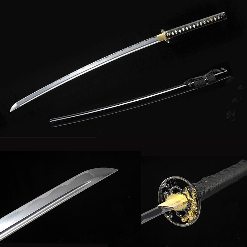 bushido handmade katanas swords katanas samurai japanese swords Sharp katana Metal crafts alloy tsuba <font><b>synthetic</b></font> leather
