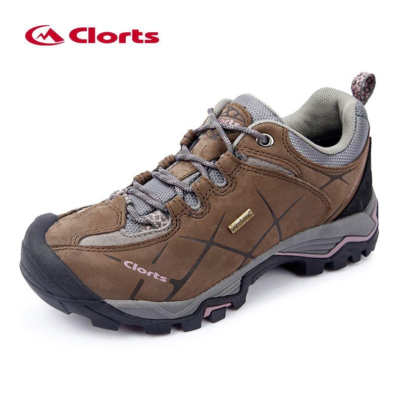 Clorts Low Hiking Shoes Women Outdoor Shoes Waterproof Nubuck Leather Mountain Shoes Lady Climbing Shoes HKL-805C
