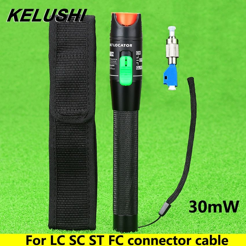 KELUSHI 2016 Visual Fault Locator 30 mW Detektor FC Stecker auf LC Weiblich Adapter LC/SC/ST/FC Stecker Kabel Optical Fiber Tester