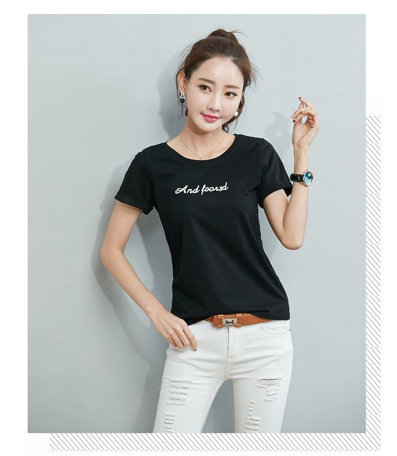 T Shirt VOGUE Letter Print Friends Tv T-shirt Casual Short Sleeve Tops Tee O Neck