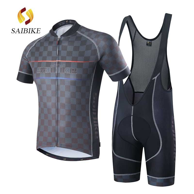 saiBike Cycling Jersey BiB shorts Set Ropa Ciclismo Clothes Quick Dry Bicicleta wear fietskleding wielrennen zomer heren sets