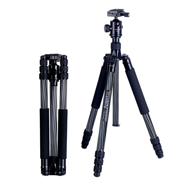 Manbily CZ- 308 tripod Carbon fiber large diameter SLR camera professional travel micro single photography bracket monopod