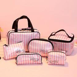 En gros femme bande duffle sac à main rose Victoria make up sac grande capacité secret Nuit weekender vs Cosmétique sac