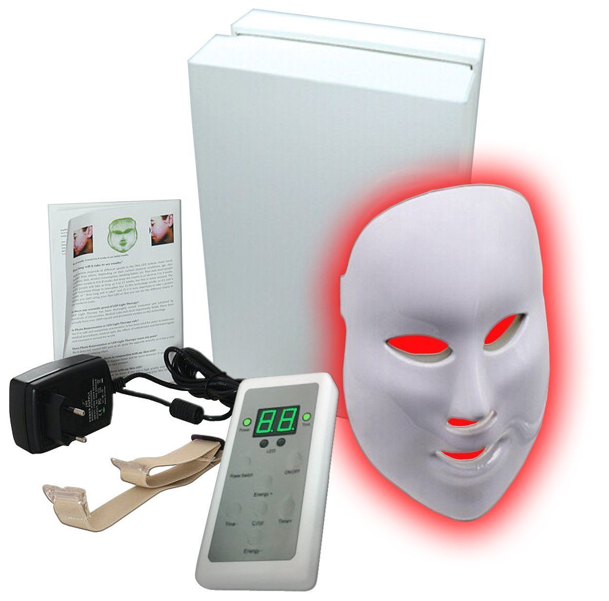 Facial LED Beauty Mask Wrinkle Removal Electric Device PDT Photon Skin Rejuvenating Beauty Machine Anti-Aging Therapy