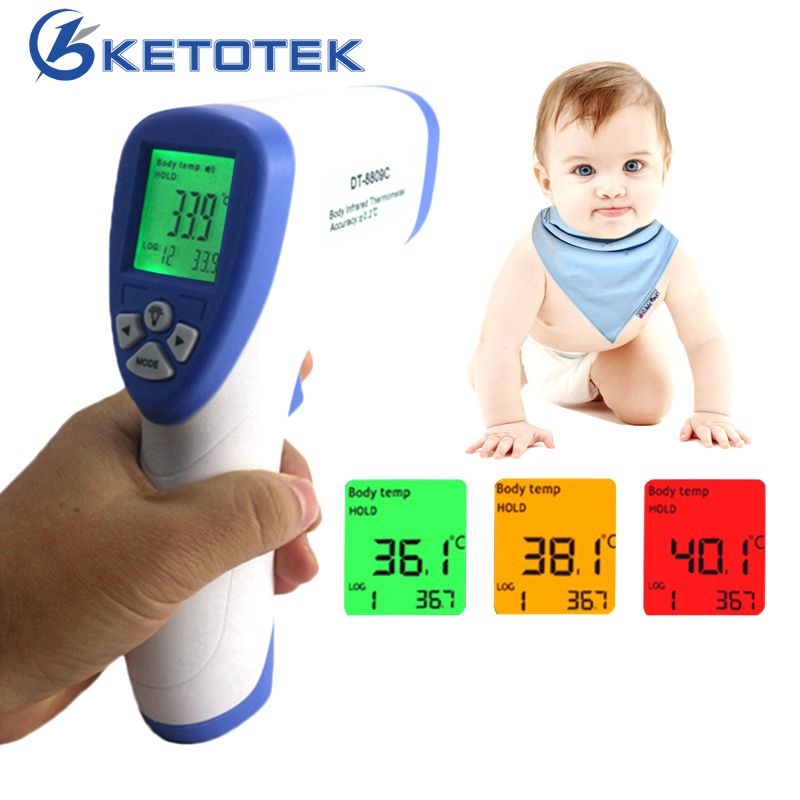 Digital Infrared Forehead Body <font><b>Thermometer</b></font> Baby Surface Non-contact Temperature Meter Termometro Digital Infravermelho