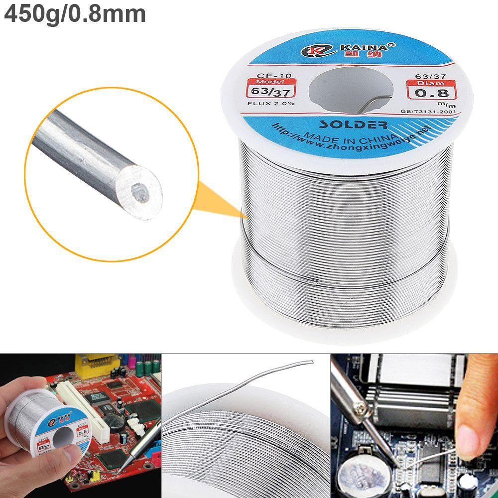 63/37 450g 0,8mm Zinn Blei Draht Core Kolophonium Solder Draht mit 2% Flux und Niedrigen Schmelzpunkt für schweißen Elektrische Lötkolben