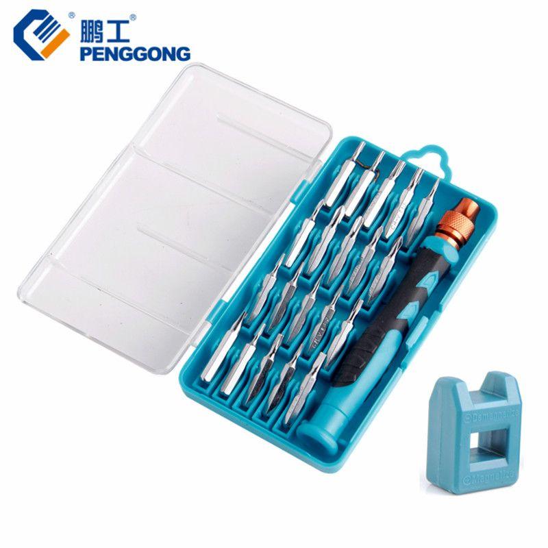 PENGGONG Mini Screwdriver bit Set Magnetizer Demagnetizer Phillips Torx Screwdriver Iphone Laptop Repair Tools