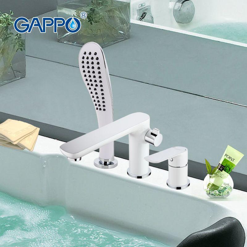 GAPPO robinet de baignoire robinet de douche de bain cascade mur douche ensemble de bain salle de bain robinet de douche mitigeur de bain torneira grifo ducha G1148