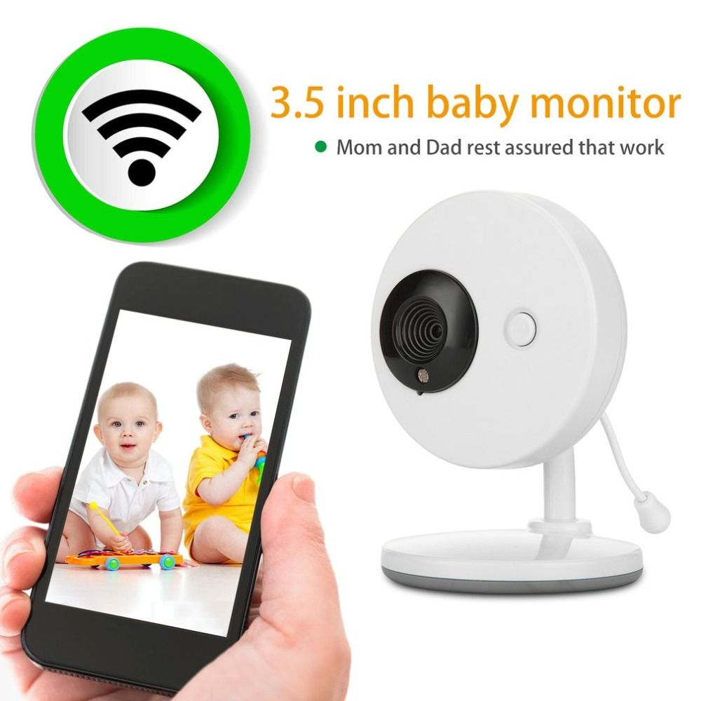 LESHP 3,5 zoll 2,4 ghz Wireless-TFT LCD 2-weg Audio Infant Baby Kamera Infrarot Nachtsicht Temperatur Erkennung nanny Monitor