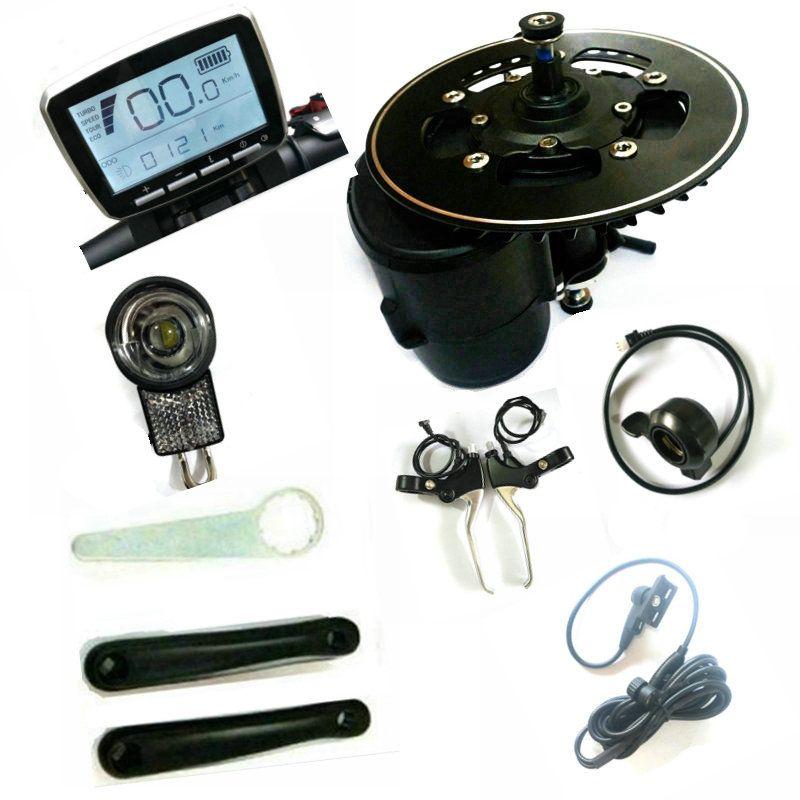 FREIES VERSCHIFFEN 52 V 750 w Tongsheng TSDZ2 ebike Kit Mitte Motor, Drehmoment Sensor Ebike Motor, gas/Bremse/Front Licht enthalten
