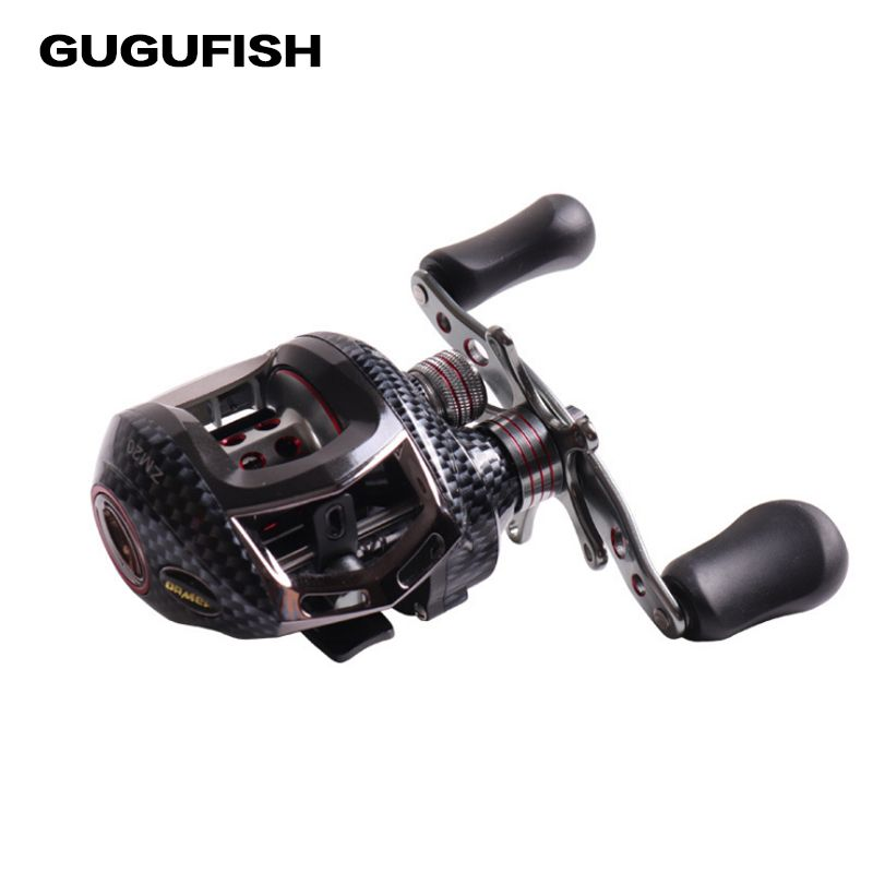 GUGUFISH Water Drop Wheel 12BBs Ball Bearings Left/Right Hand Fishing Reel 6.3:1 High Speed Baitcasting Carretilha De Pesca