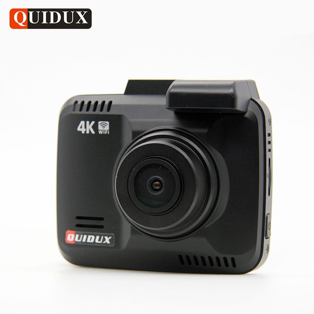 Quidux 4 К Разрешение Super HD Видеорегистраторы для автомобилей 2160 P видео Регистраторы GPS Logger Новатэк 96660 видеокамера 1080 P dashcam Камера ночное виден...