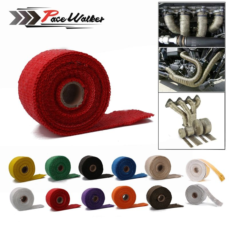 2inch x5m x1.5mm High Exhaust Pipe Header Heat Wrap Resistant Downpipe 4 Stainless Steel Ties