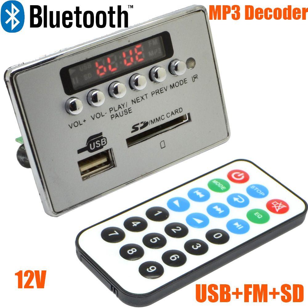 12 V LED voiture Bluetooth sans fil MP3 décodeur carte Module Audio USB SD TF FM Radio livraison gratuite avec numéro de piste 12003139