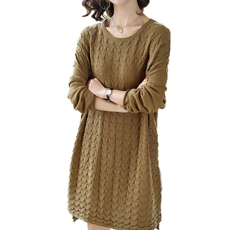 Spring Autumn Openwork knitting Sweater 2018 New Top Round neck Thread Sweaters Plus size Fashion Loose Female Wild vadim X438