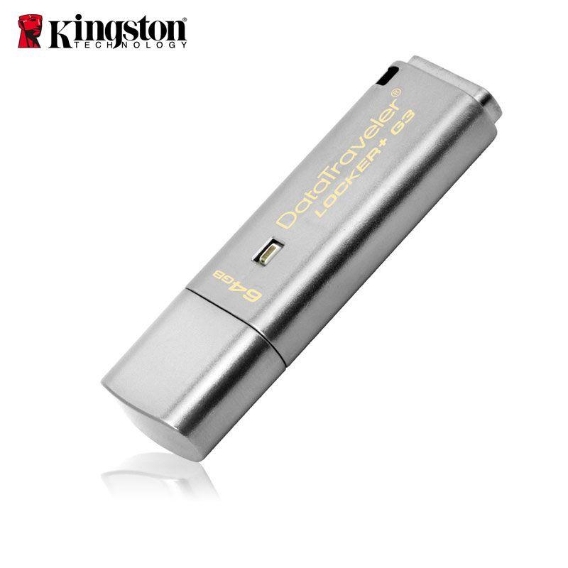 Kingston USB Flash Drive Pendrive 8gb 16gb 32gb 64gb USB 3.0 Metal Personal Security usb Drive Memoria Stick cle usb Pen Drive