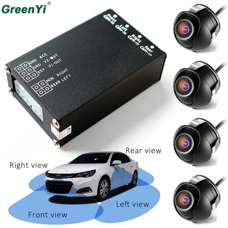 Car Parking Assistance Panoramic View All Round Rearview Camera System For All Car Universal With Monitor System 360 Degree View
