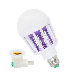 220V 240V E27 LED Mosquito Killer Lamp 9W 2 In 1 LED Ball Light Anti Repellent Fly Bug Zapper Insect Killer LED UV Bulb