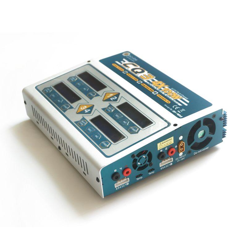 Neue Ev-gipfel CQ3 RC lipo balance ladegerät AC/DC 4*100 Watt für NiCd/NiMH LiPo/LiLo/LiFe batterie intelligente ladegerät schnell und effiziente