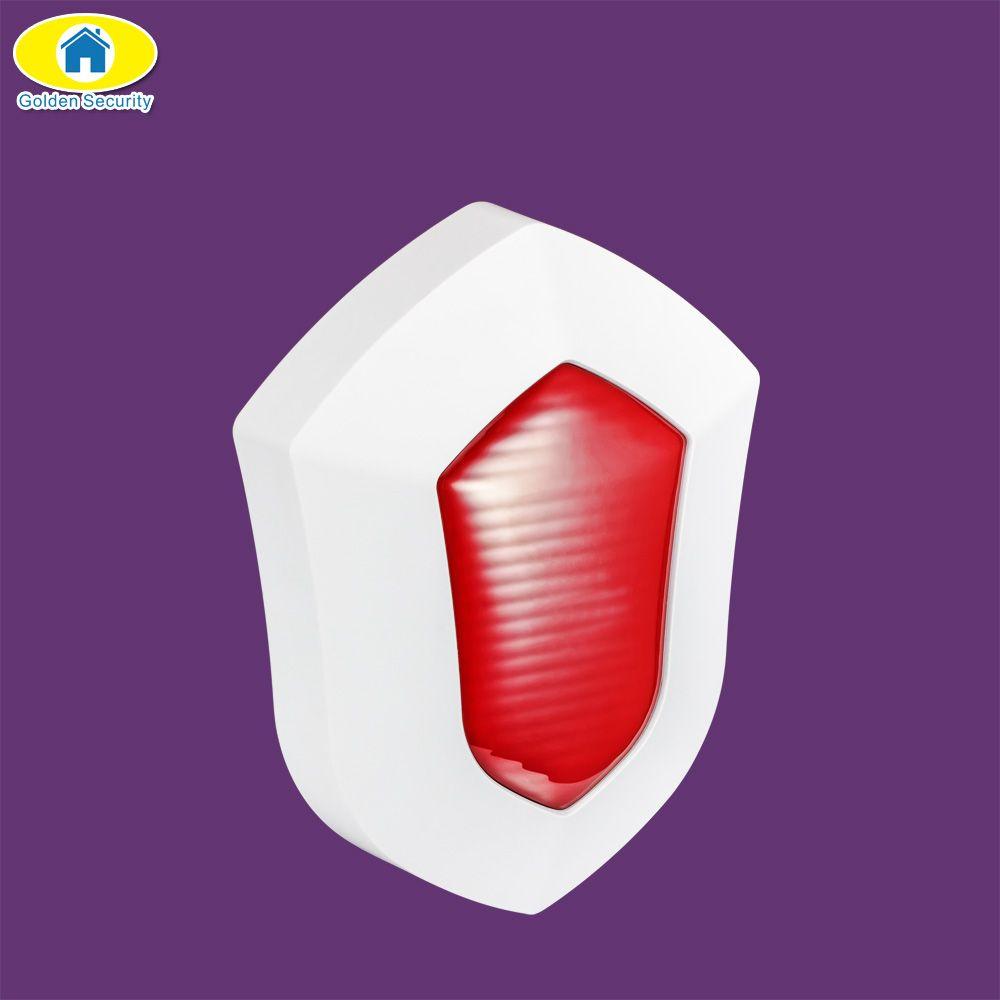 Golden Security Waterproof Outdoor Wireless Alarm Strobe Siren Anti Tamper alarm Horn for G90B security GSM WiFi Alarm System
