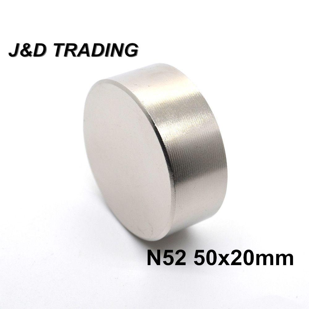 1 pièces N52 aimant néodyme 50x20mm métal gallium super fort aimant rond 50*20 aimants Neodimio pour compteurs d'eau haut-parleur