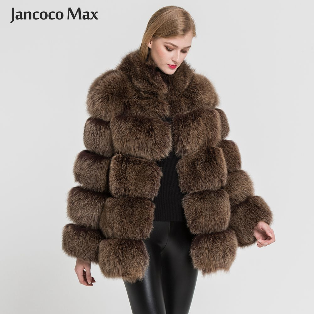 2018 New Arrival Women Luxury Fox Fur Coat Top Quality Winter Thick Warm Fur Jacket Fashion Outerwear S7362