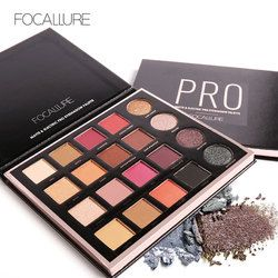 Focallure Baru 20 Warna Matte & Electric Pro Eyeshadow Shimmer Nude Glitter Shadow Palet Magic Star Koleksi