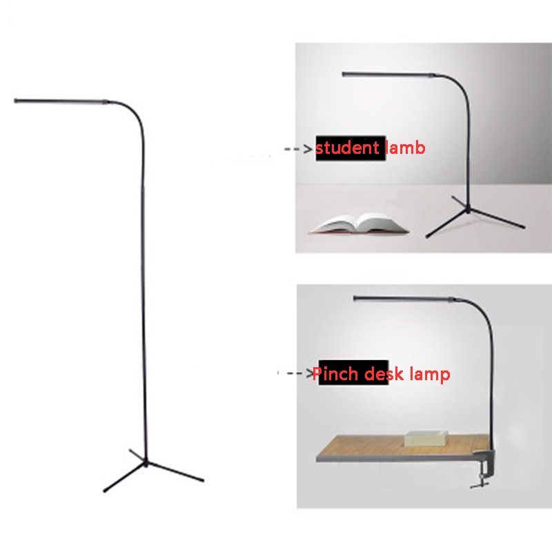 Multifunctional modern floor lamp white and warm white LED dimmer USB table lamp reading vertical Desk Lamp