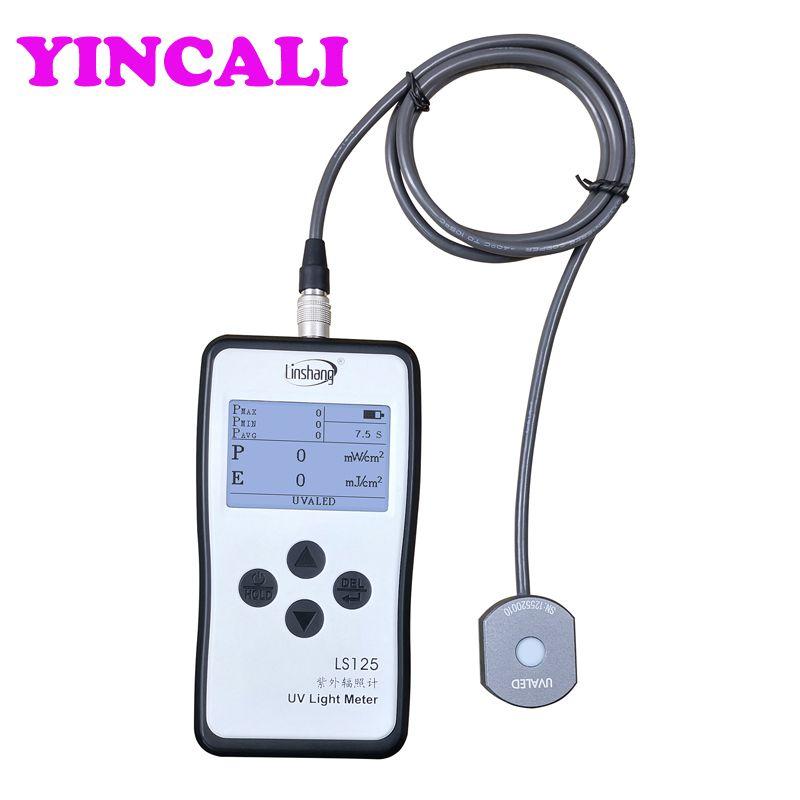 Upgrade UV Licht Meter LS125 + UVALED Sonde Geeignet für die Intensität und Energie Messung von LED Lampen Palette 340nm-420nm