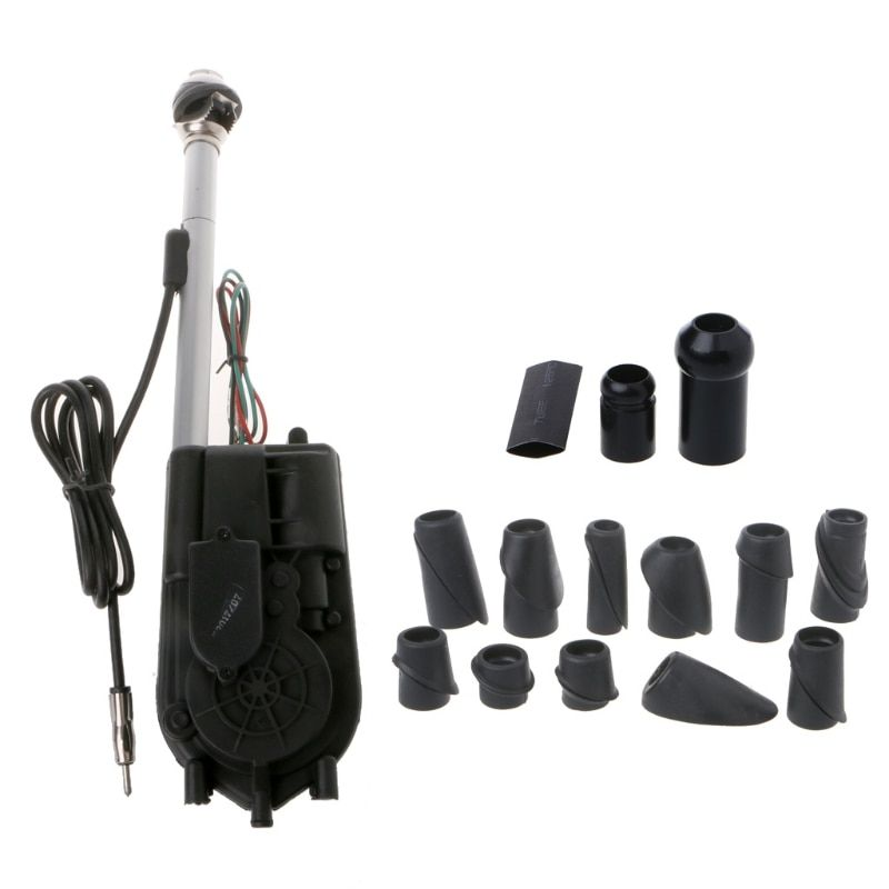 Universal Car Auto SUV AM FM Radio Electric Power Automatic Antenna Aerial Kit 12V Exterior Vehicle Aerials Pro Auto Replacement