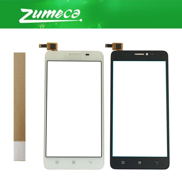 5.0 Inch For Lenovo S850 S 850 Touch Screen Digitizer Touch Panel Lens Glass Replacement Part Black White Color With Tape