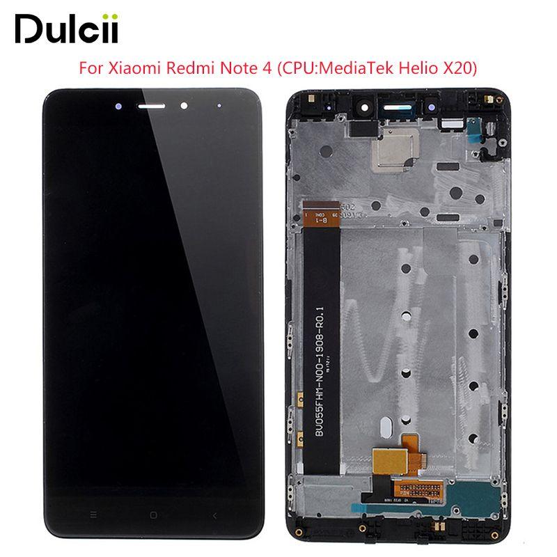 Dulcii Für Xiaomi Redmi Hinweis 4 MediaTek LCD Digitizer Montage (OEM) + rahmen Ersetzen Teil (nicht OEM) für Xiaomi Redmi Hinweis 4 MTK