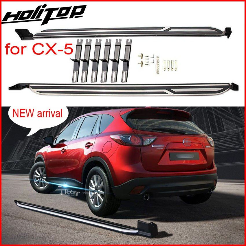 New Arrival running board nerf bars side step bar for Mazda CX-5 2017 2018+, supplied by ISO9001 factory, hot sale in China