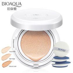 Bioaqua Tabir Surya Air Cushion BB CC Cream Concealer Pelembab Foundation Makeup Telanjang Whitening Face Cream Kosmetik Korea