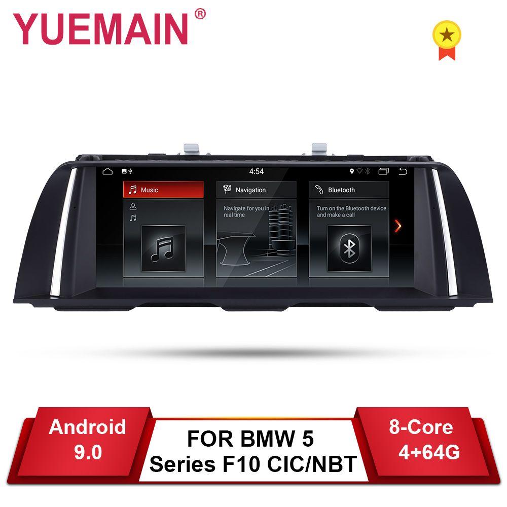 YUEMAIN android 9.0 Auto DVD GPS-Player Für BMW 5 Series F10 F11 (2011-2016) CIC/NBT Auto Radio Multimedia Navigation 520i Stereo