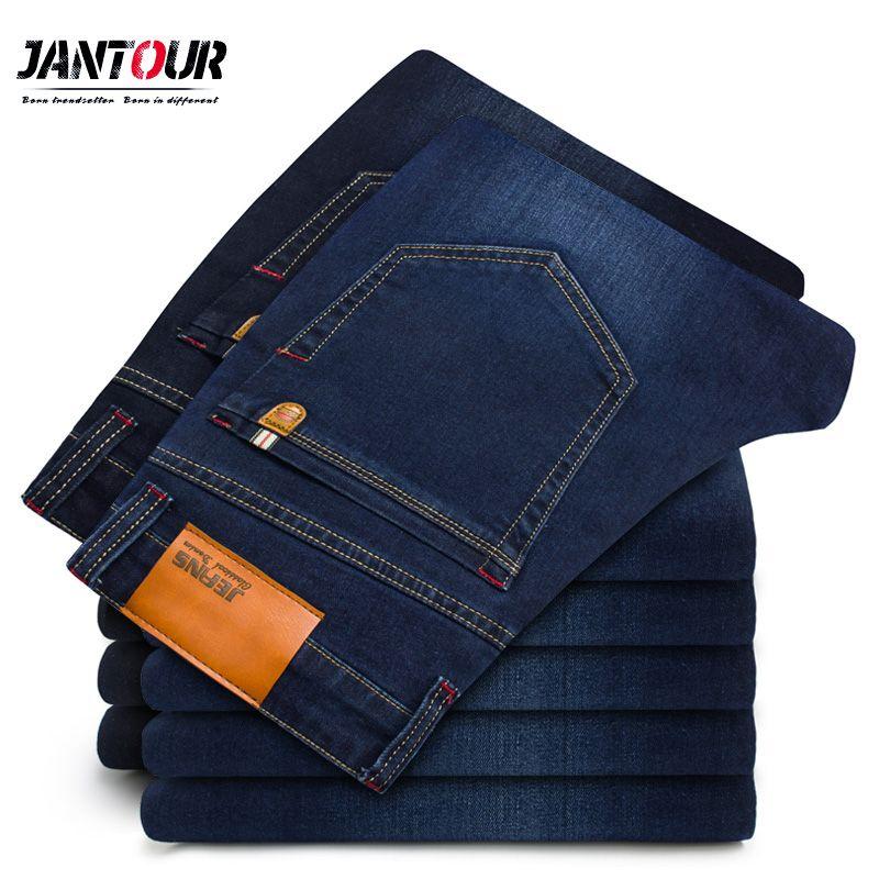 2018 New Autumn Winter thick Jeans Men High Quality Famous Brand Denim trousers soft mens pants fashion Large Big size 40 42 44