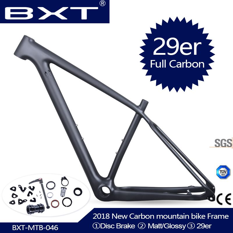 2018 Chinese carbon mtb frame 29er bicicletas mountain bike 29 bicycle parts carbon frame 142*12 or 135*9mm bicycle frame