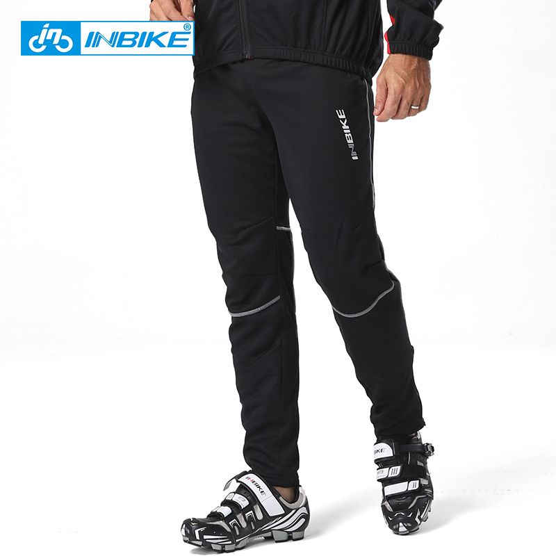 INBIKE autumn and winter cycling trousers thermal waterproof mtb mountain bike long sports pants men cycling clothing