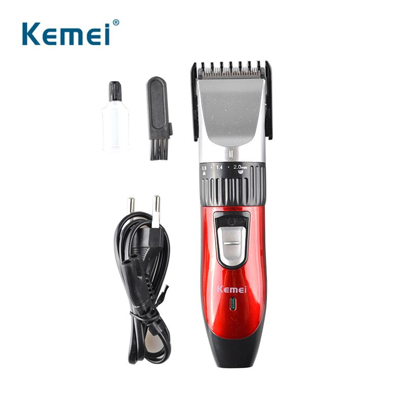 Kemei Men's Rechargeable Electric Adjustable Hair Clipper Trimmer Kit Battery Trimmer
