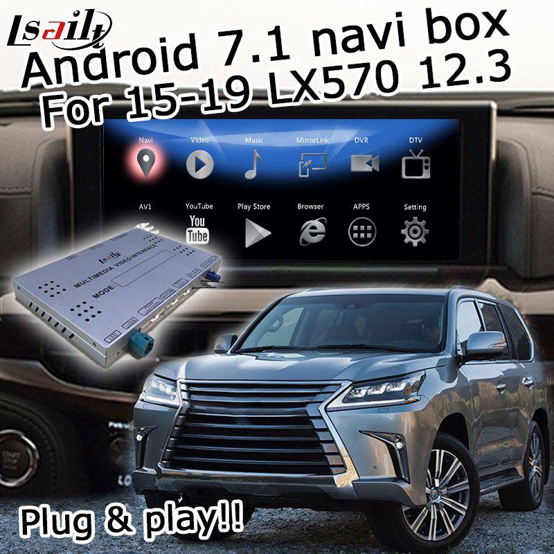 Android GPS navigation box für Lexus LX570 LX 2015-2019 etc video interface mit maus control Carplay android auto LX450d
