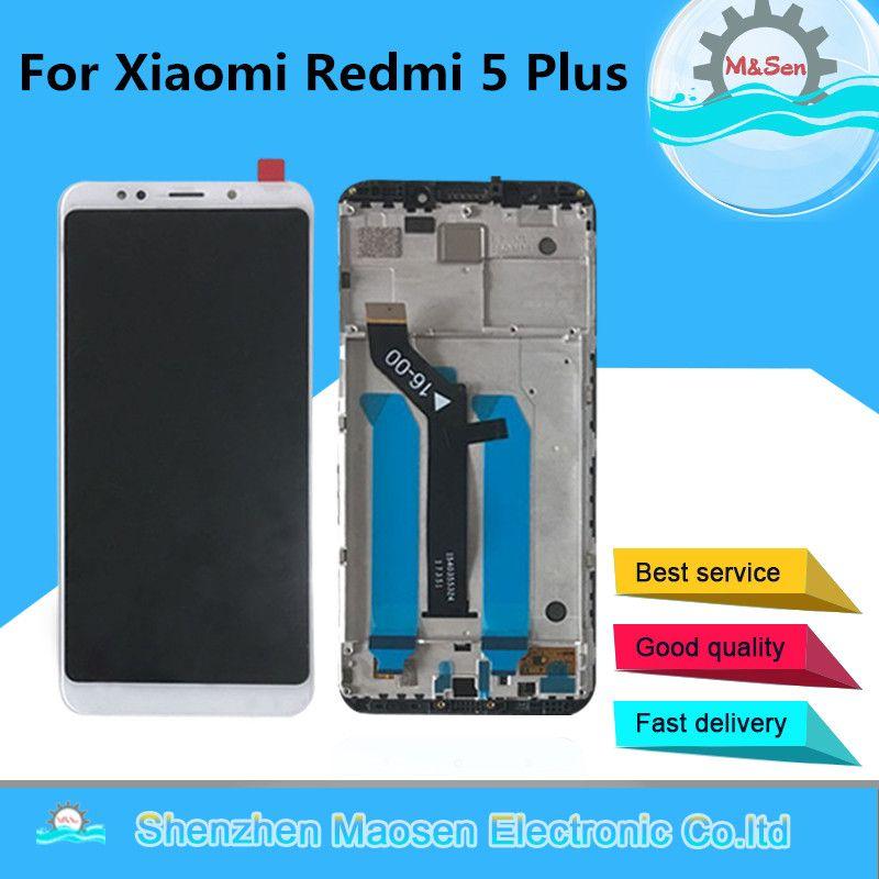 Original M&Sen For <font><b>5.99</b></font> Xiaomi Redmi 5 Plus LCD screen display touch digitizer with frame for redmi 5 plus lcd display replace