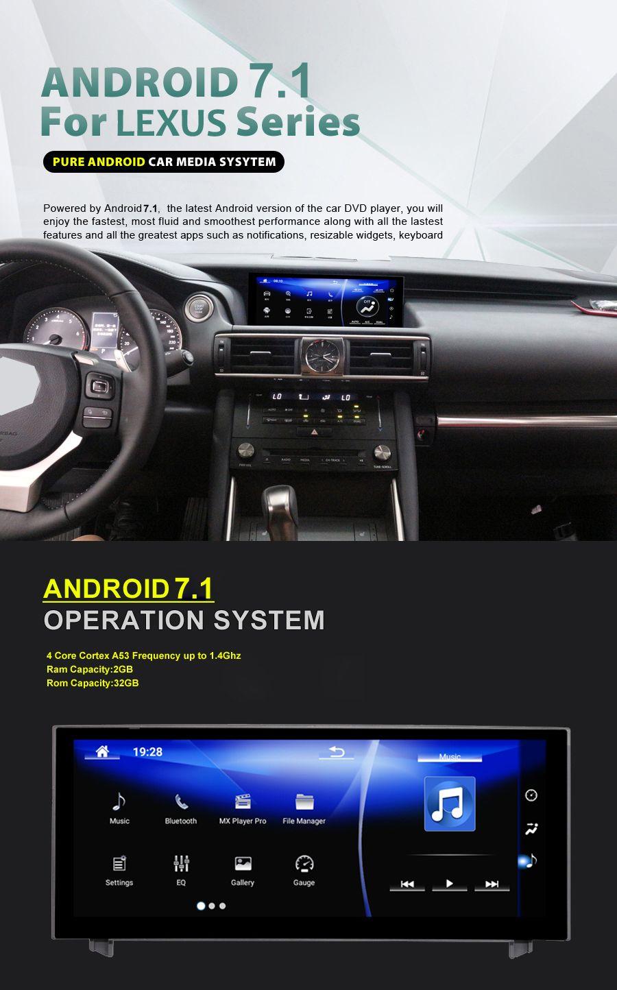 10,25 zoll NAVIRIDER Android 7.1 Auto Radio GPS Navigation BT Kopf Einheit Bildschirm für Lexus IST 200 250 300 350 200 t 300 h 2013-2017