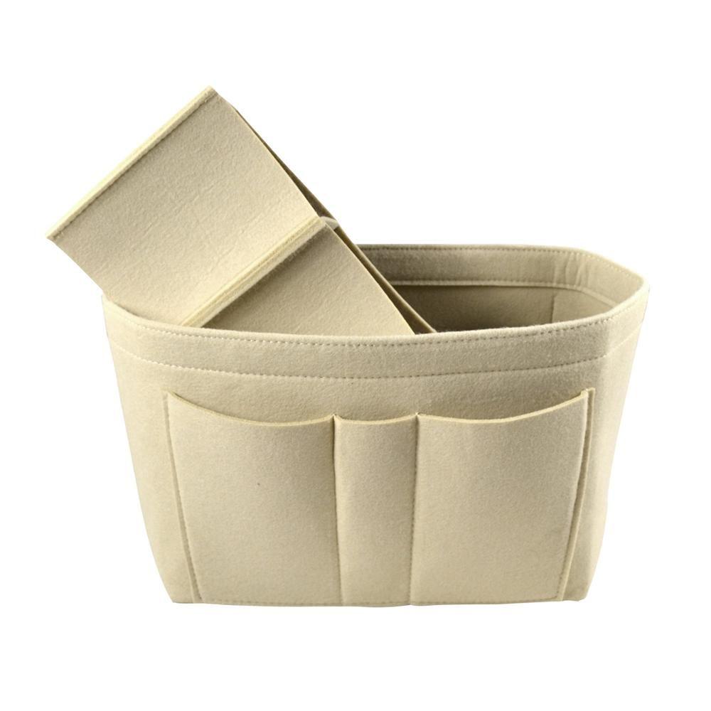 2019 sacs de rangement de toilette fille feutre sac de maquillage organisateur Insert sac organisateur insérer multi-fonctionnel voyage sac cosmétique